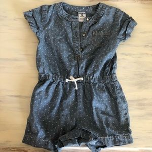 Carter's One Pieces - Carter's Denim Romper